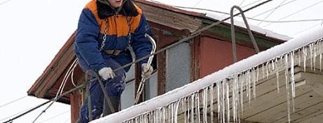 Очистка крыш от снега Киев